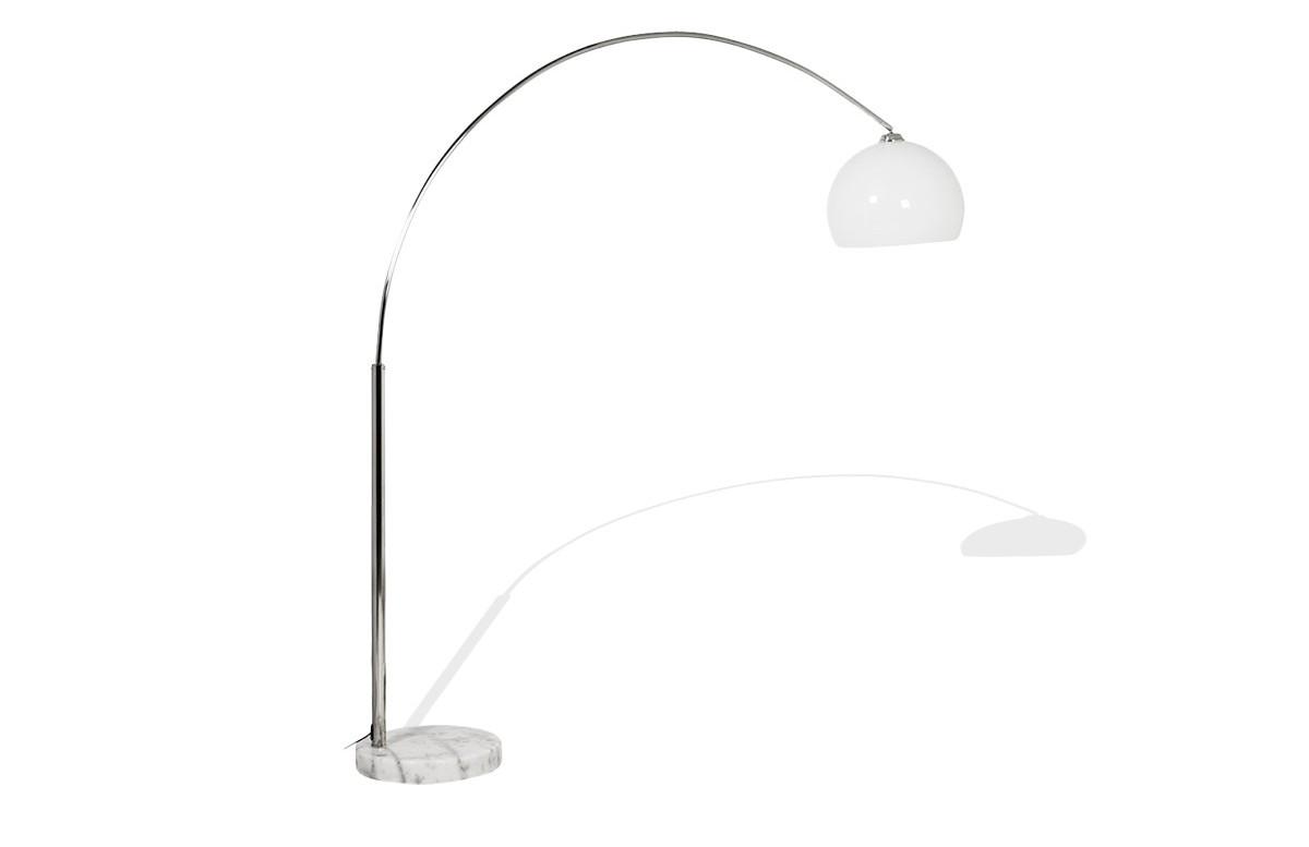 Lampadaire Design ARC blanc