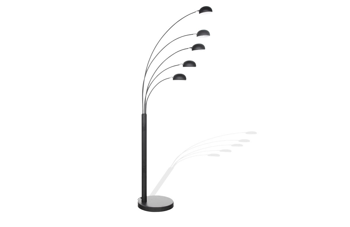 Lampadaire Design FIVE noir