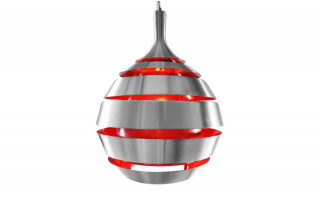 Suspension Design GALAXY gris rouge
