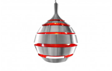 Suspension Design GALAXY gris rouge