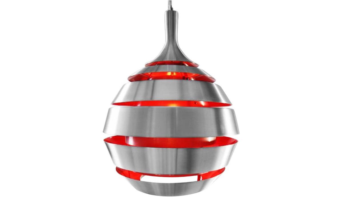Suspension design gris rouge