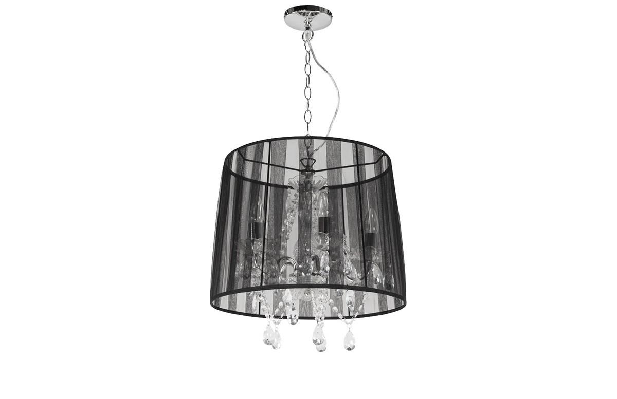 Lampe suspendue design abat-jour noir