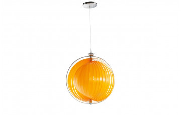 Lampe suspendue design orange