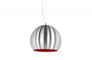 Lampe suspendue SPHERA gris rouge