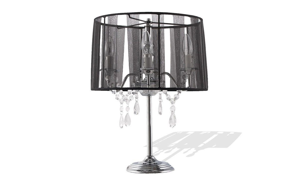 lampe de chevet abat jour design noir le r ve chez vous. Black Bedroom Furniture Sets. Home Design Ideas