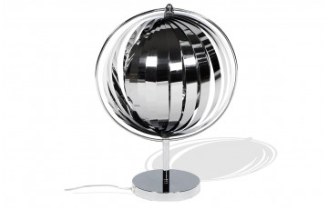 Lampadaire de table Design MOON chrome