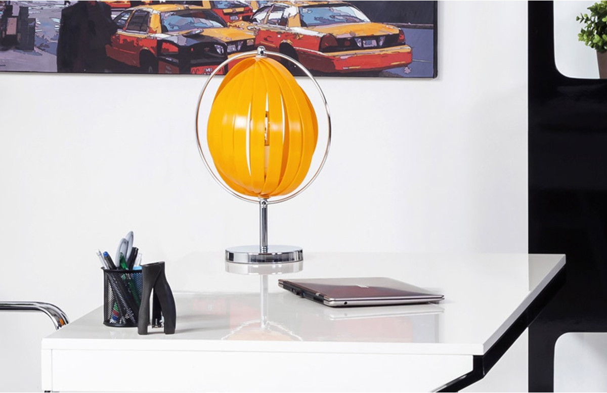 Lampadaire de table Design MOON JUNIOR orange