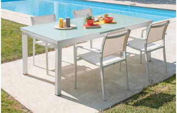 Ensemble ALGA, table + 4 fauteuils