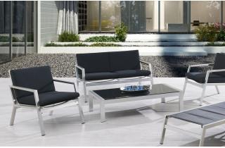Salon de jardin luxe aluminium 4 places MANHATTAN
