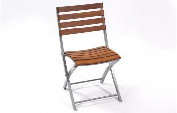 Chaise pliante bois et acier