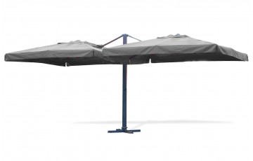 Parasol en aluminium 2 toiles grises de 3x3m
