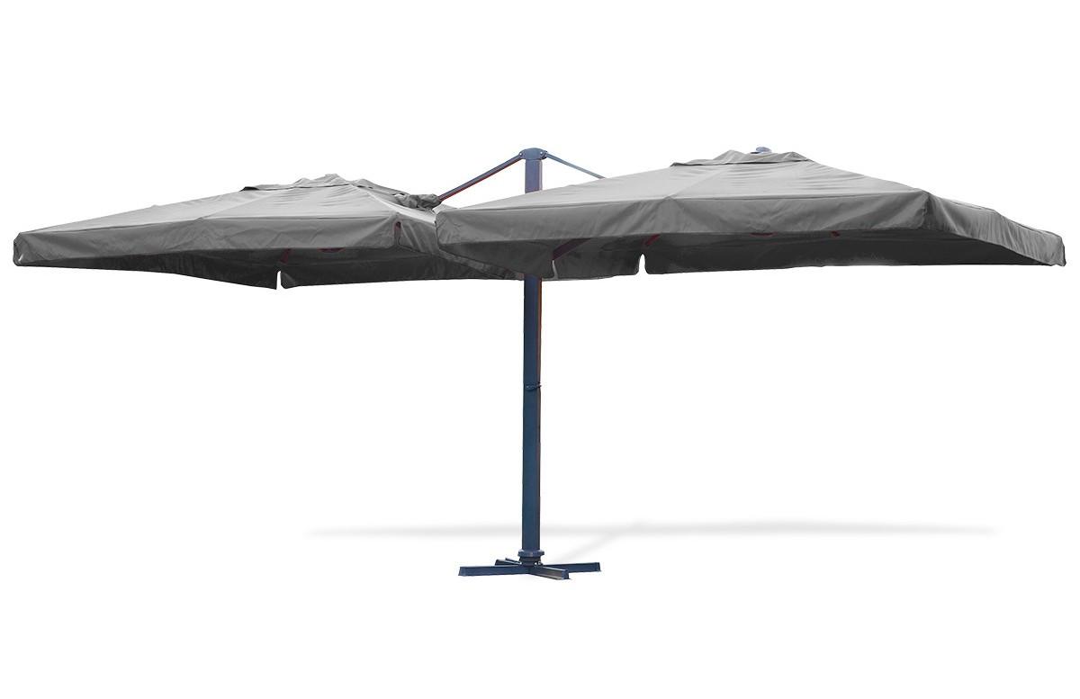 Parasol en aluminium gris