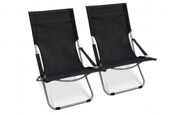 Lot de 2 relax pliable noir