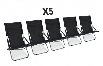Lot de 5 relax pliable noir