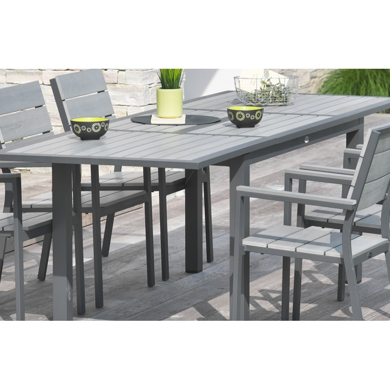 Ensemble table composite avec 6 fauteuils - Le Rêve Chez Vous
