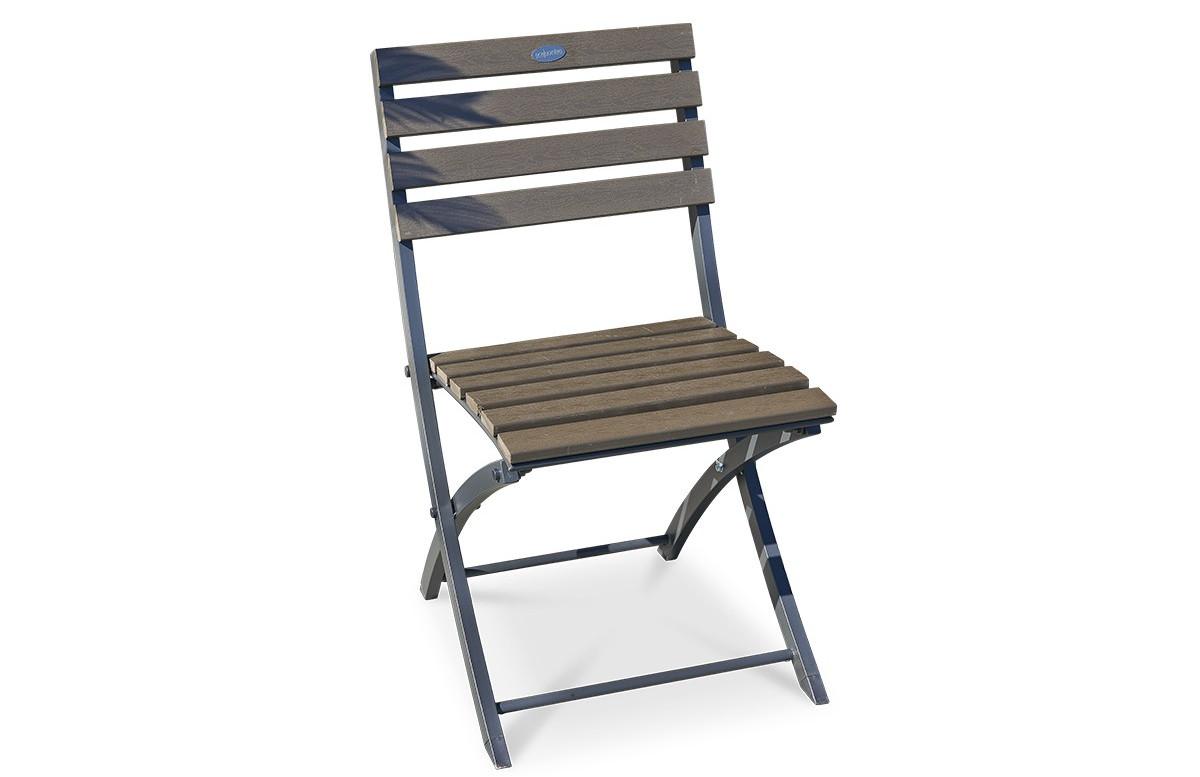 Chaise pliante anthracite