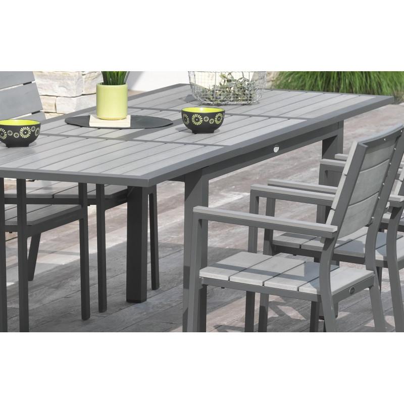 Beautiful table de jardin a rallonge papillon photos - Table jardin aluminium composite ...