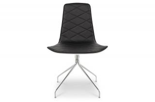 Chaise design WHY noire et blanche en similicuir