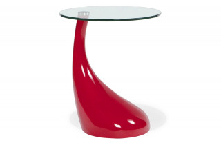 Table basse Design MELTING rouge
