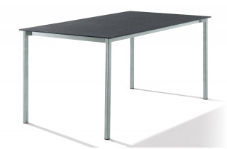Table superstone gris foncé 160X90cm