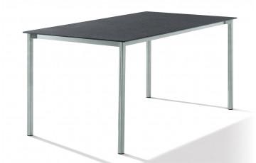 Table superstone gris foncé 160X90cm