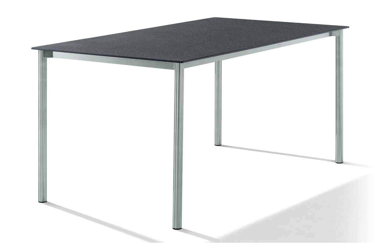 Table Superstone gris foncé 160x90 cm