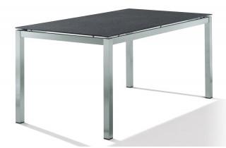 Table Supertsone gris foncé 160X90cm avec pieds carrés