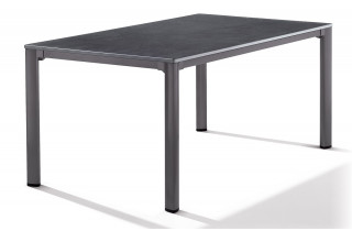Table Puroplan aspect ardoise anthracite 165X95cm