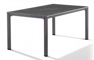 Table Puroplan aspect Béton, 165X95cm pieds gris foncé