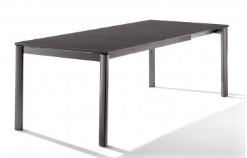 Table extensible Puroplan gris foncé anthracite 165/225/285/95