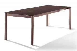 Table extensible Puroplan marron MOCCA 165/225/285/95
