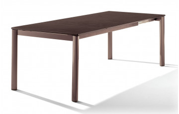 Table extensible Puroplan marron MOCCA 165/225/285/95