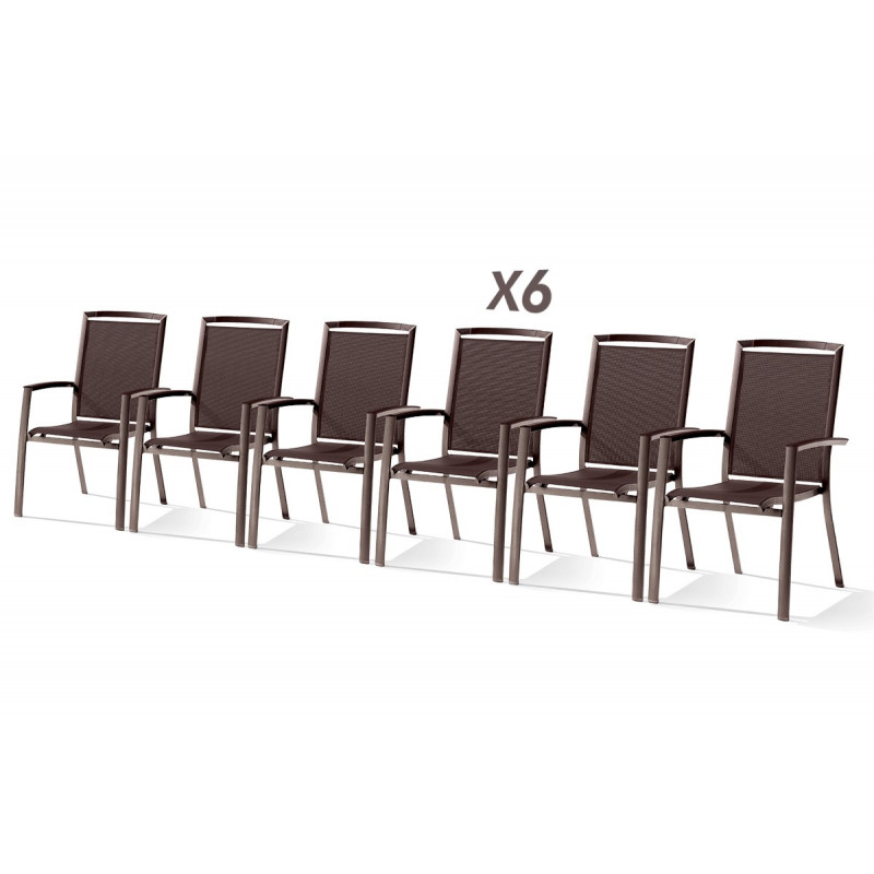 Table Puroplan et 6 fauteuils mocca - Le Rêve Chez Vous
