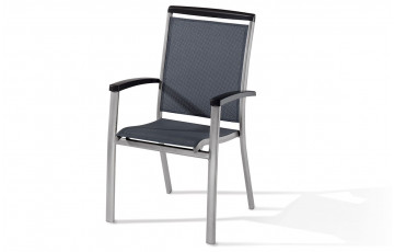 Fauteuil empilable Royal Graphite & Gris