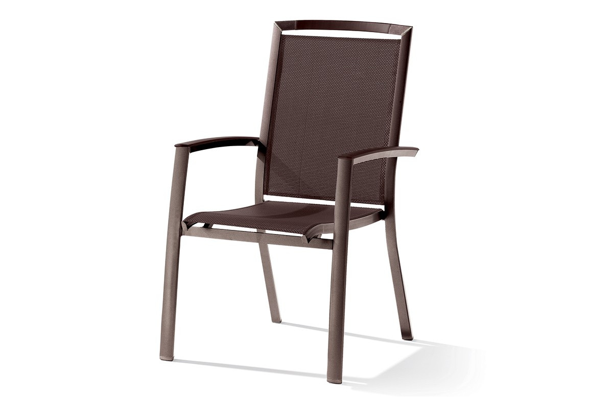 Fauteuil empilable marron mocca