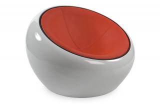 Fauteuil design ATMO blanc/rouge