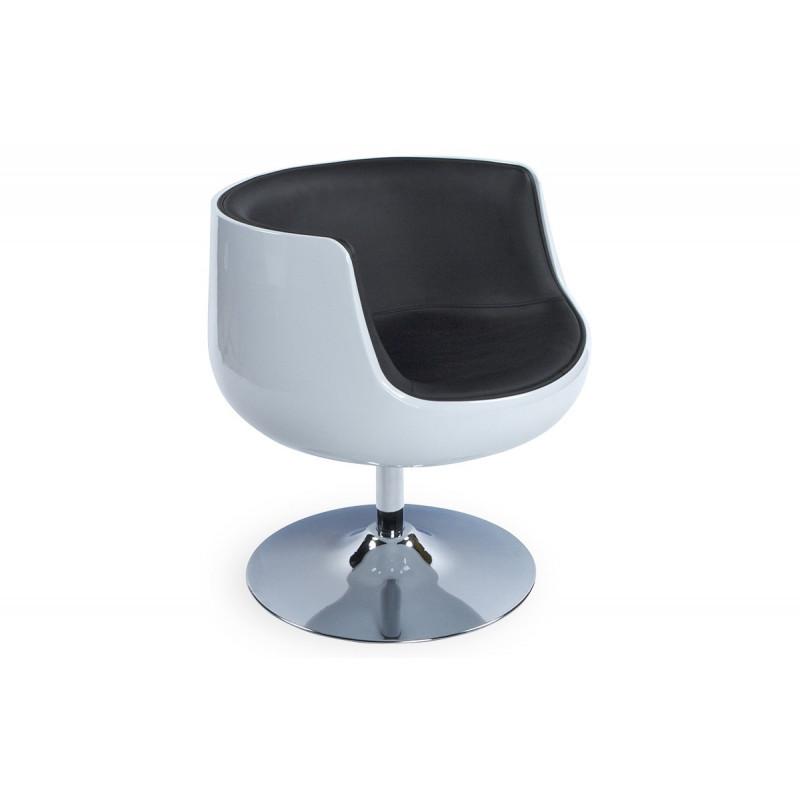 Siege Design Rond BlancNoir Le Rêve Chez Vous - Siege fauteuil design