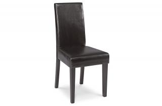 Lot de 2 chaises GUEVARA natural / chocolate pour salle à manger