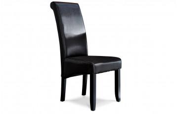Lot de 2 chaises COHIBA chocolat pour salle à manger