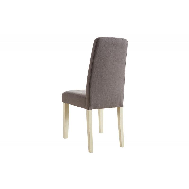 lot de 2 chaises de sejour couleur taupe le r ve chez vous. Black Bedroom Furniture Sets. Home Design Ideas