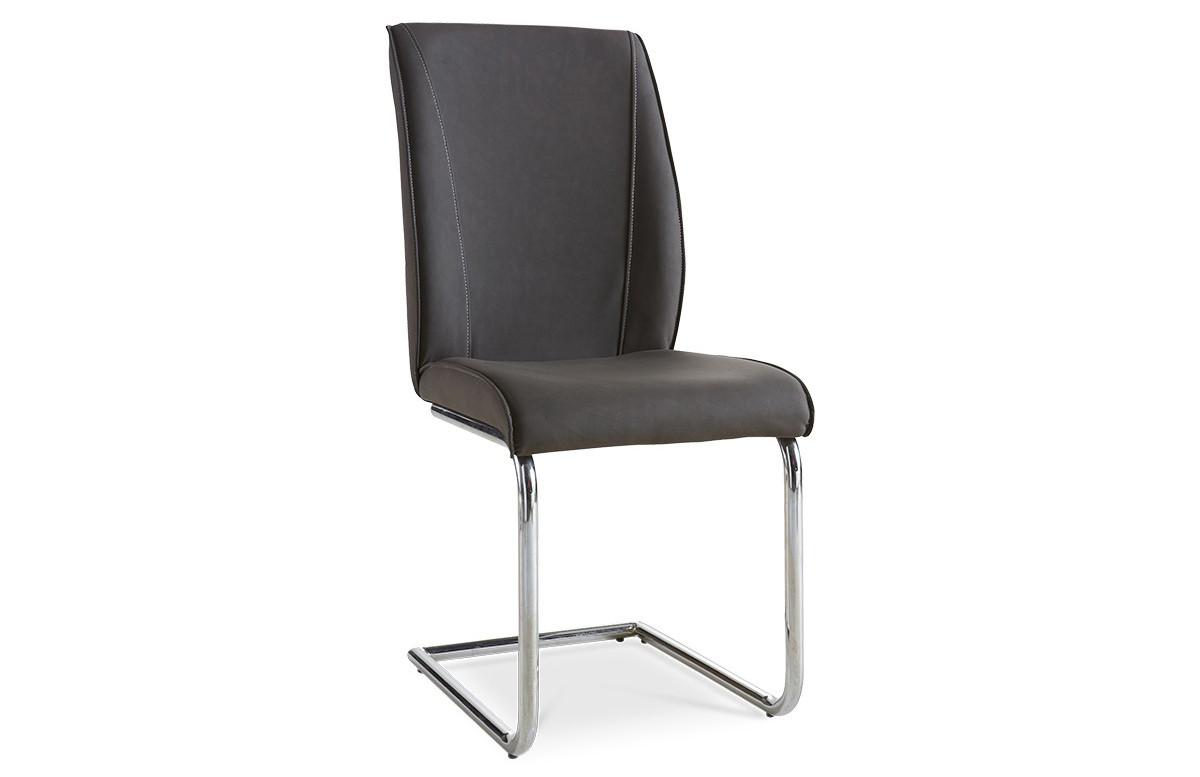 Lot de 2 chaises de sejour couleur taupe