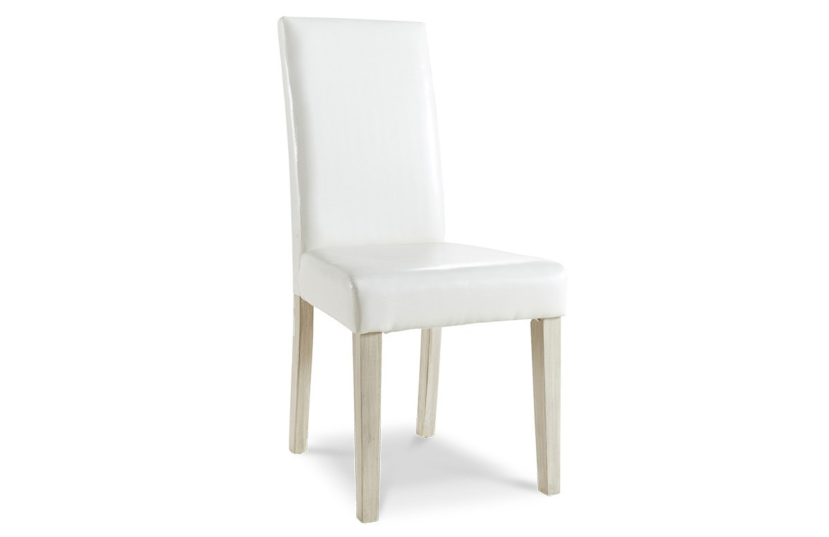 Lot de 2 chaises de séjour GUEVARA couleur blanc