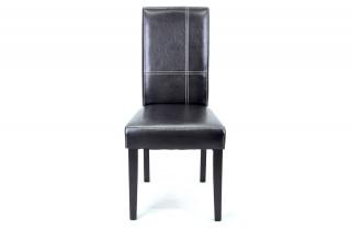 Lot de 2 chaises GUEVARA dark brown/black pour salle à manger