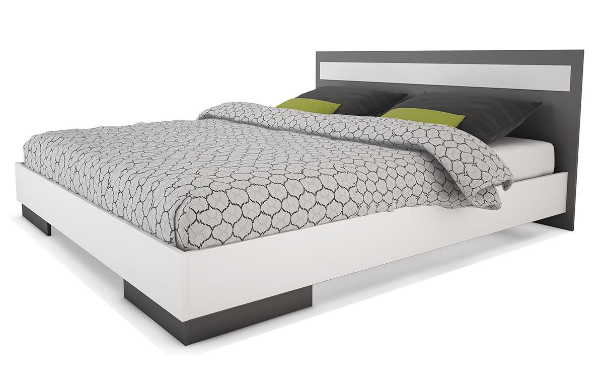 lit adulte blanc gris graphite le r ve chez vous. Black Bedroom Furniture Sets. Home Design Ideas