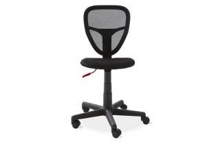 Chaise dactylo RADIUS noir