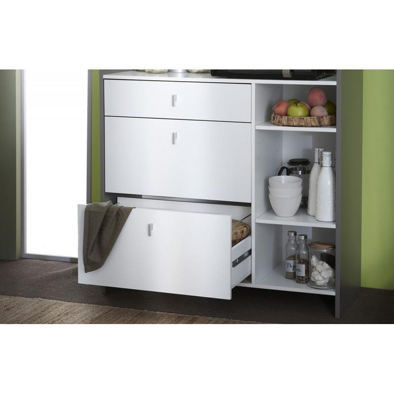 desserte de cuisine blanc basalte le r ve chez vous. Black Bedroom Furniture Sets. Home Design Ideas