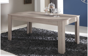 Table 170X90 cm DUCHESS couleur chene shannon/beton clair