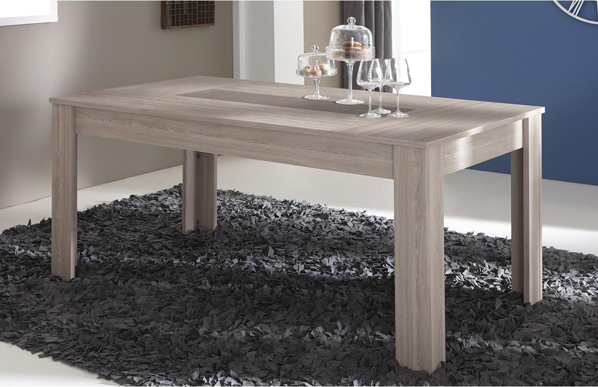 Table 170X90 cm DUCHESS couleur chene shannon/beton clair