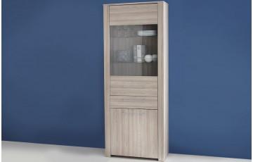 Vitrine 1 porte/1 tiroir/1 vitre DUCHESS couleur chene shannon