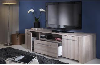 Banc TV 2 portes/1 tiroir 1m48 DUCHESS couleur chene shannon